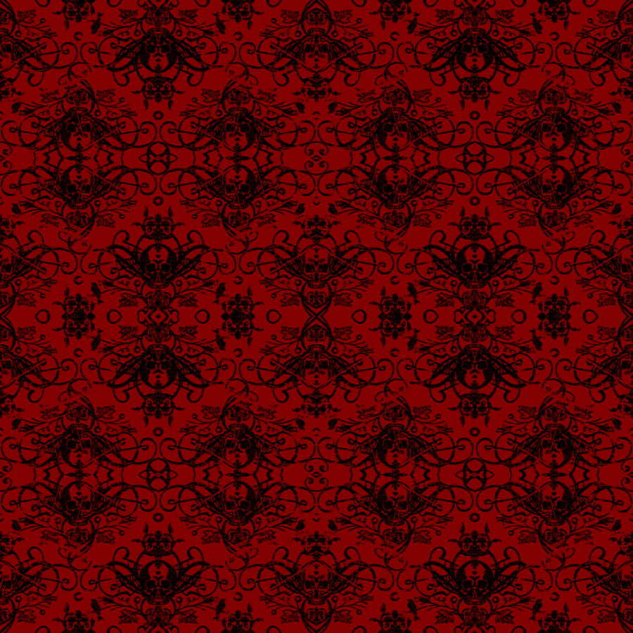 Red And Black Damask Background