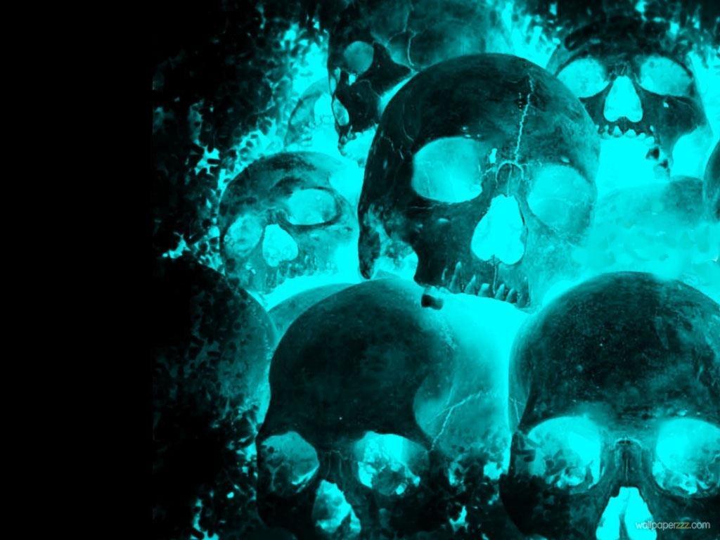 Download Blue Skulls Wallpaper Wallpaper 1024x768