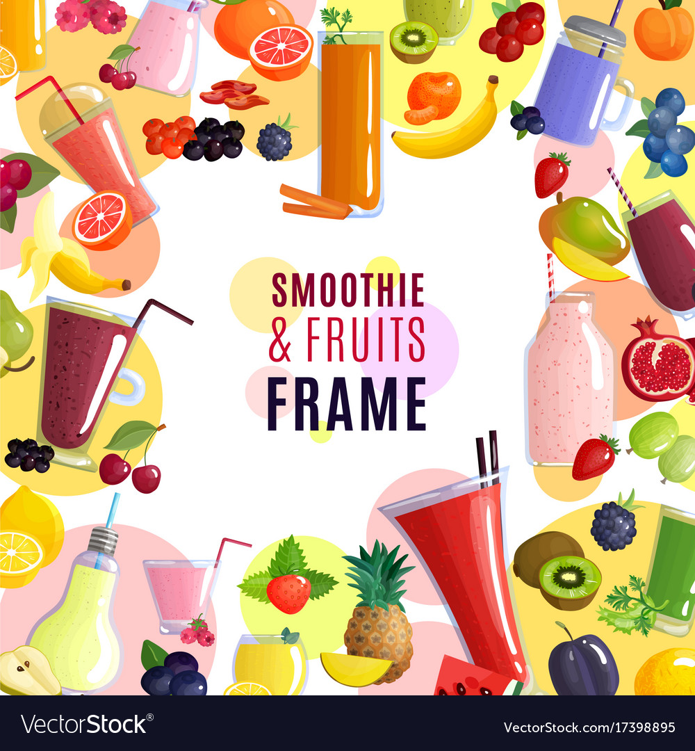 Smoothie frame background Royalty Vector Image 1000x1080