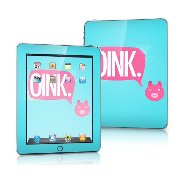 iPad skins iPad 1st Generation Oink 2 skin for iPad 1st Generation 600x600
