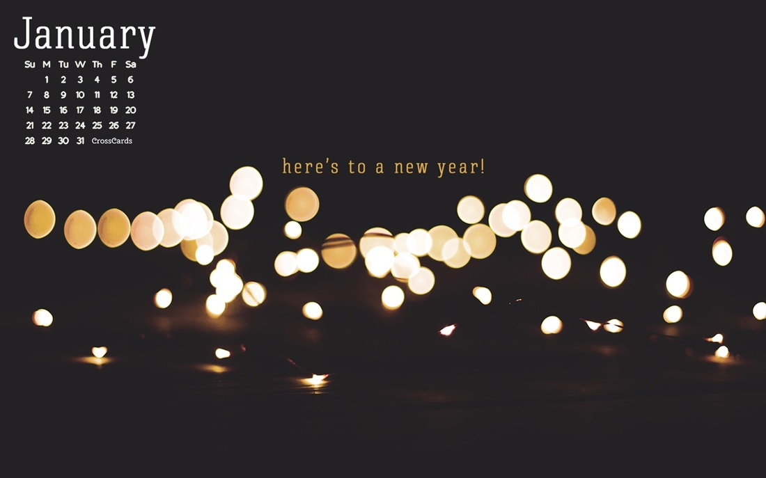January 2018   New Year Desktop Calendar  January 1100x687