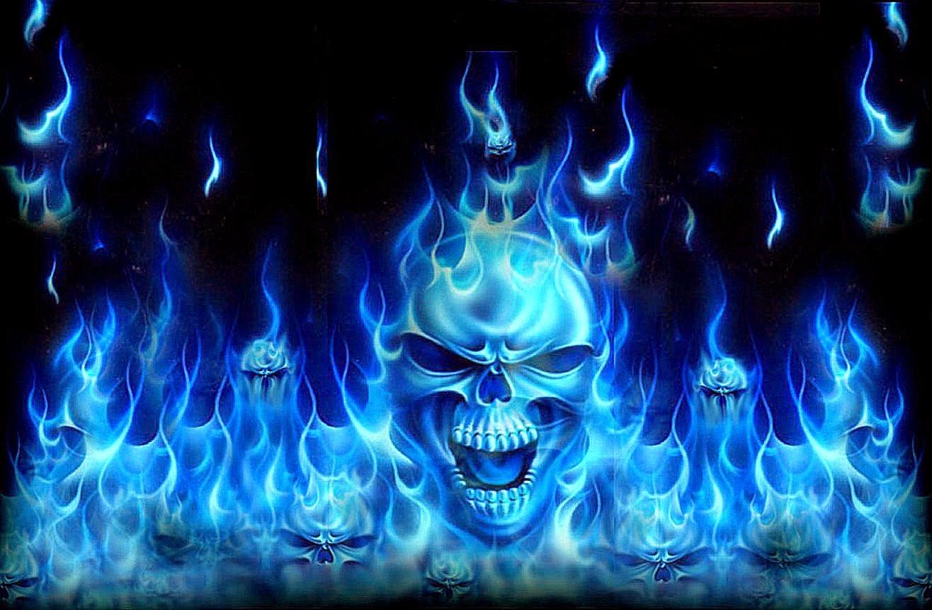 Blue Skull Hd Wallpaper Best Wallpapers 1316x861