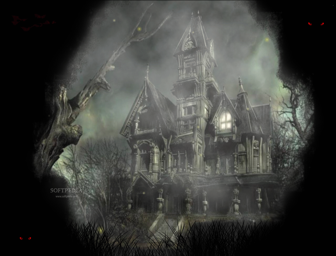 Halloween Mansion Animated Wallpaper   Halloween Mansion Animated 1280x978
