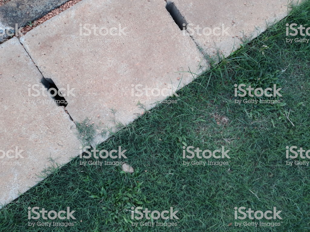 Cement Drain Grate Crossed And Green Grass With Abstract 1024x768