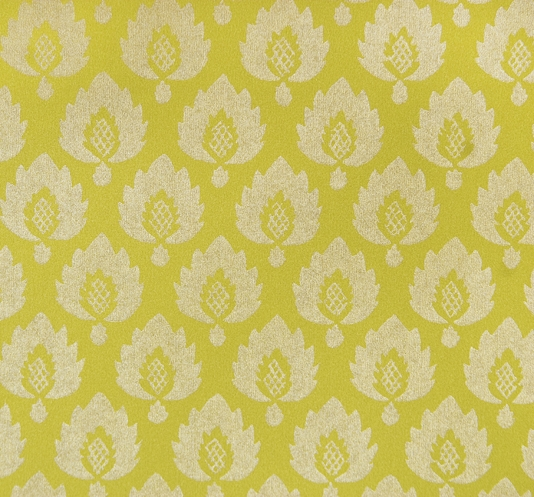 Yellow wallpaper pineapple Moroccan trellis hollywood regency 534x497