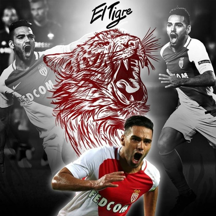 Falcao Monaco Soccer Soccer clubs As Monaco Wallpapers HD 748x748