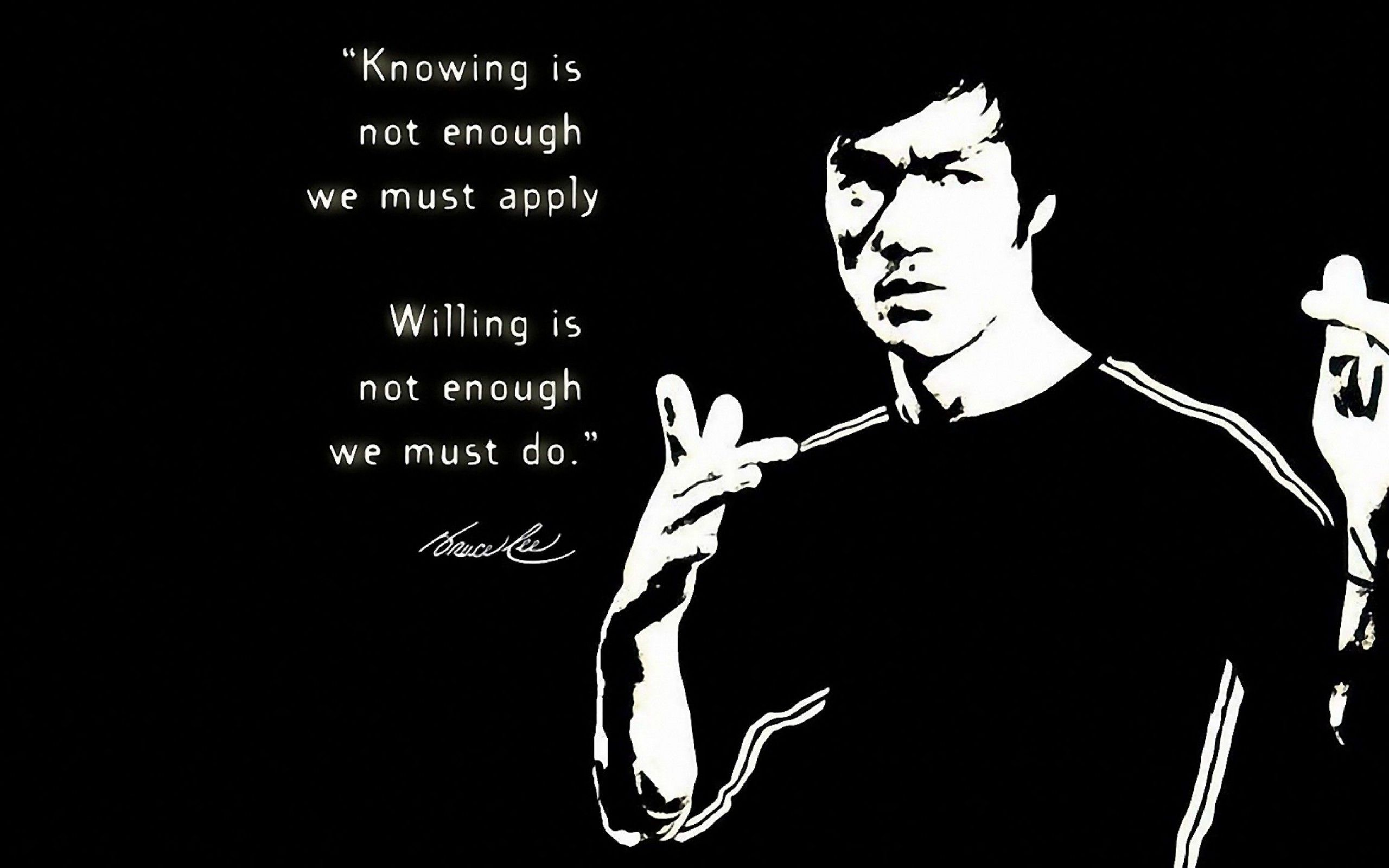 Bruce Lee Wallpaper Quotes 102 images in Collection Page 1 2560x1600