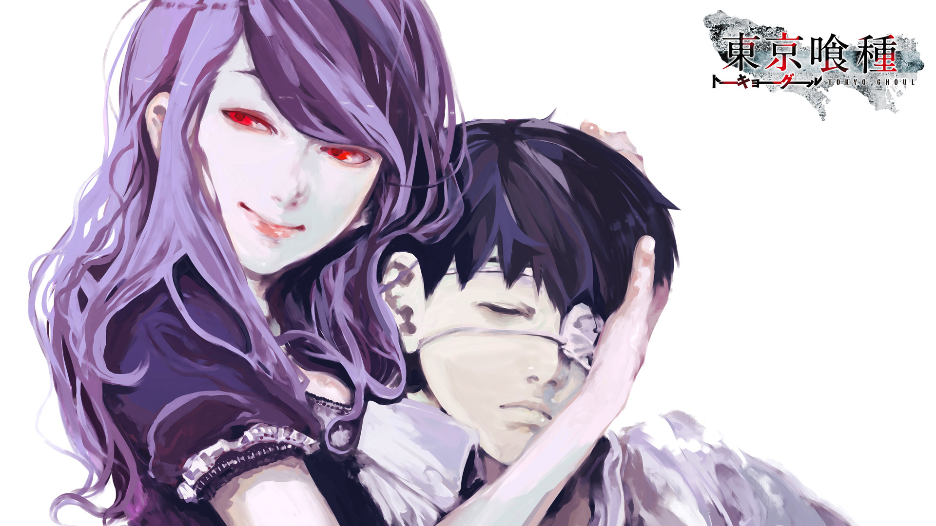 Tokyo Ghoul Rize and Ken HD Wallpaper 1920x1080