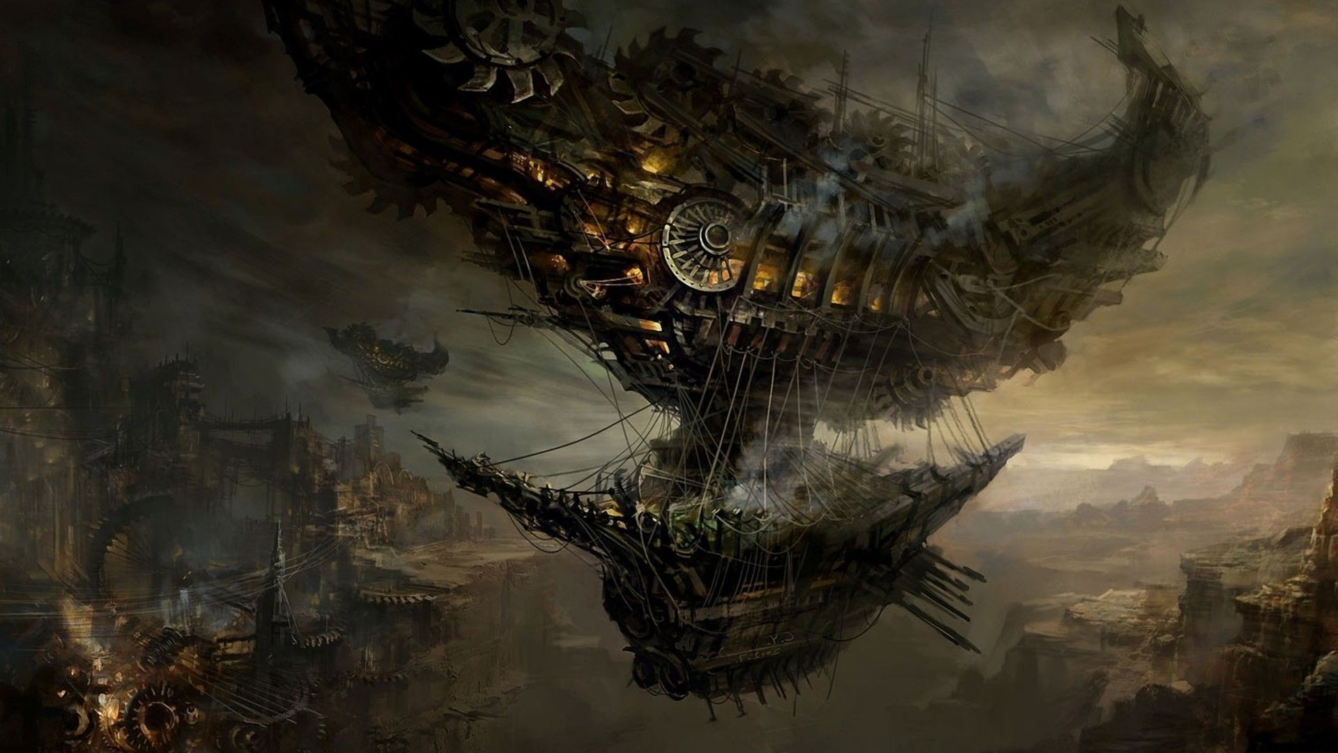 steampunk wallpaper wallpapers 1920x1080 1920x1080