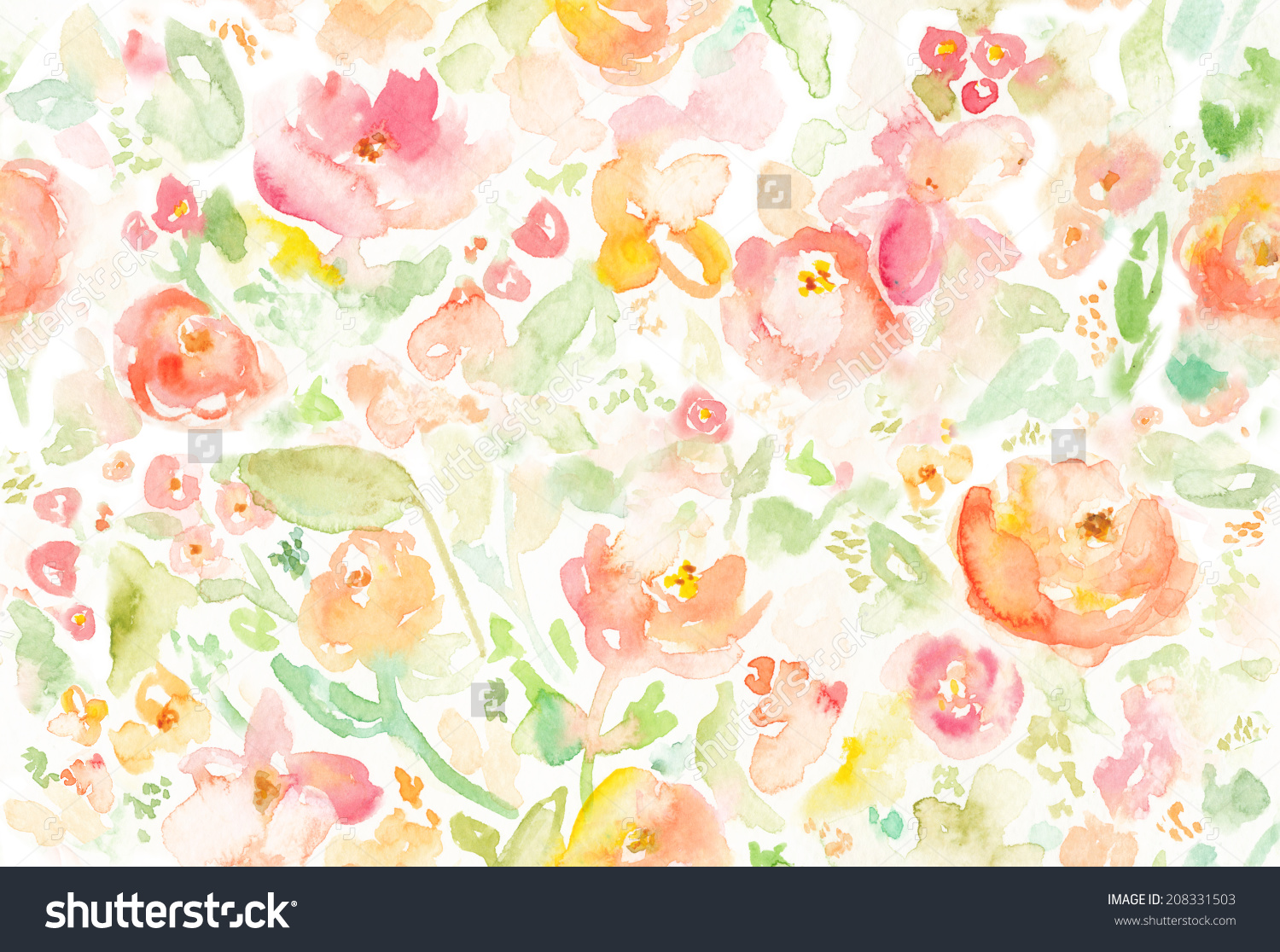 Free Download Watercolor Floral Background Colorful Watercolor