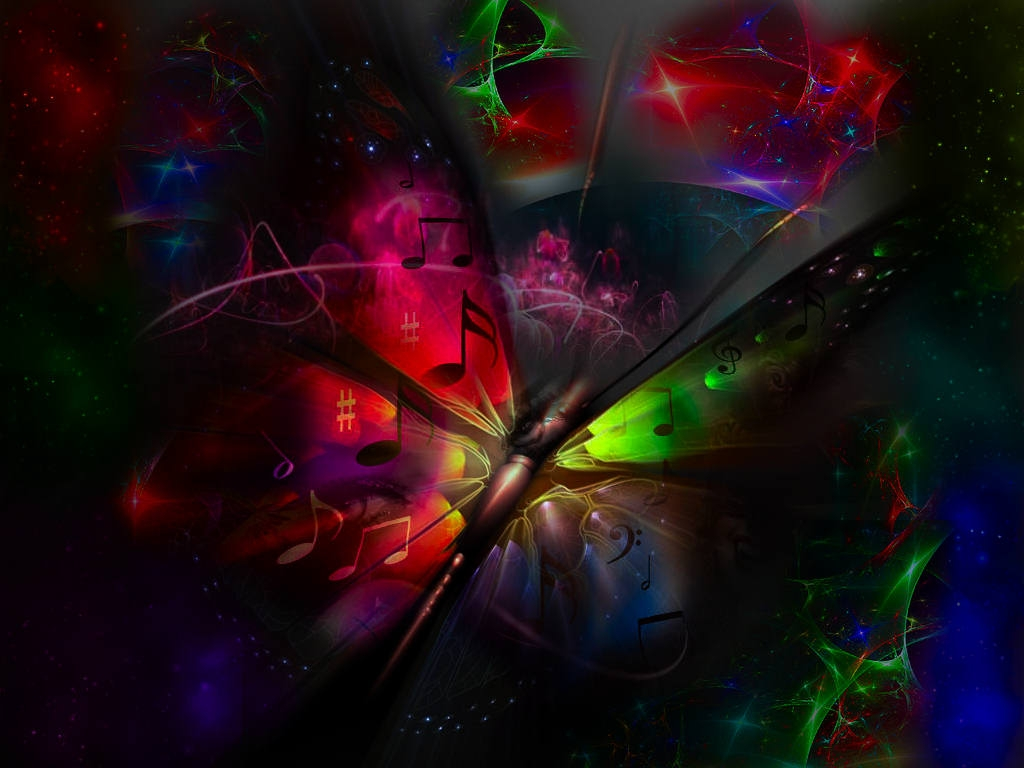 cool neon butterfly backgrounds 1024x768