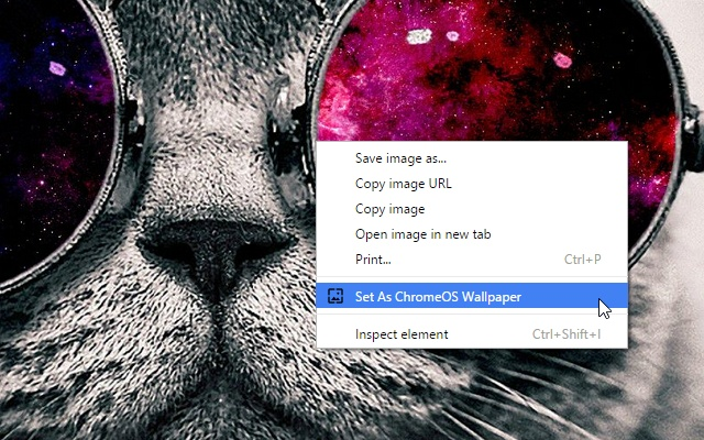 Set any online image as desktop wallpaper on Chromebook and other 640x400
