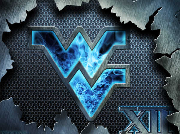 WVU Flying WV Steel Blue Plasma 2012 by wretchedvoid 600x446
