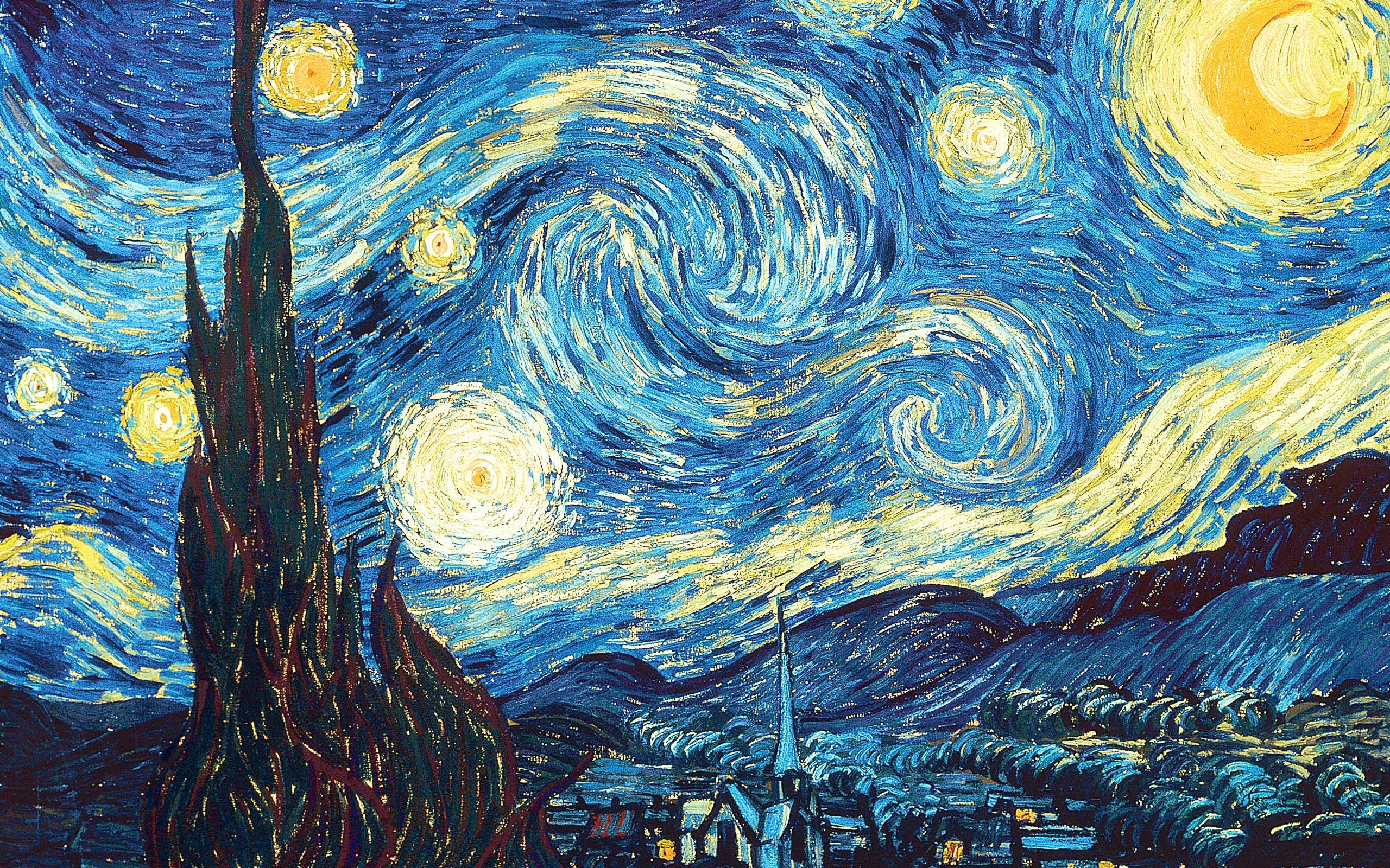 Starry Night Wallpaper Vincent van Gogh Wallpapers 2560x1600