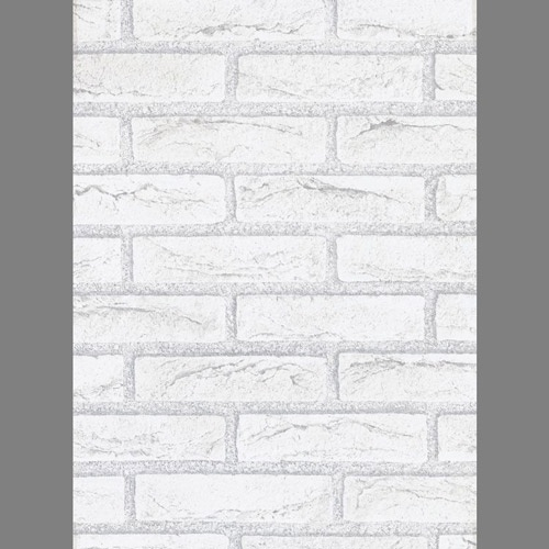 White Self Stick stone wall contact paper 200x2454 Brick wallpaper 500x500