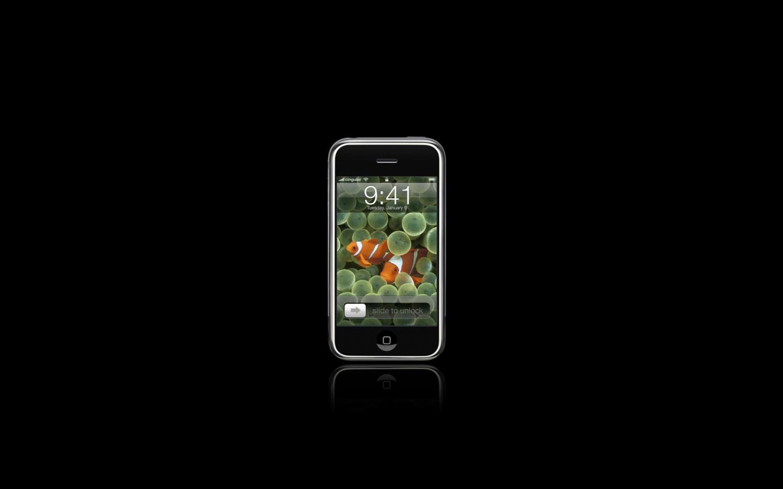 1440x900 Black iPhone desktop PC and Mac wallpaper 1440x900
