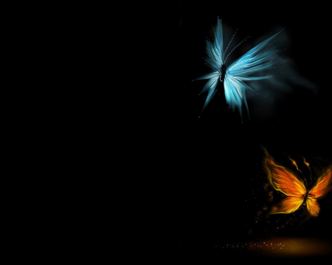 blue yellow butterfly gold butterflies 1600x1200 HD Wallpaper of 1280x1024