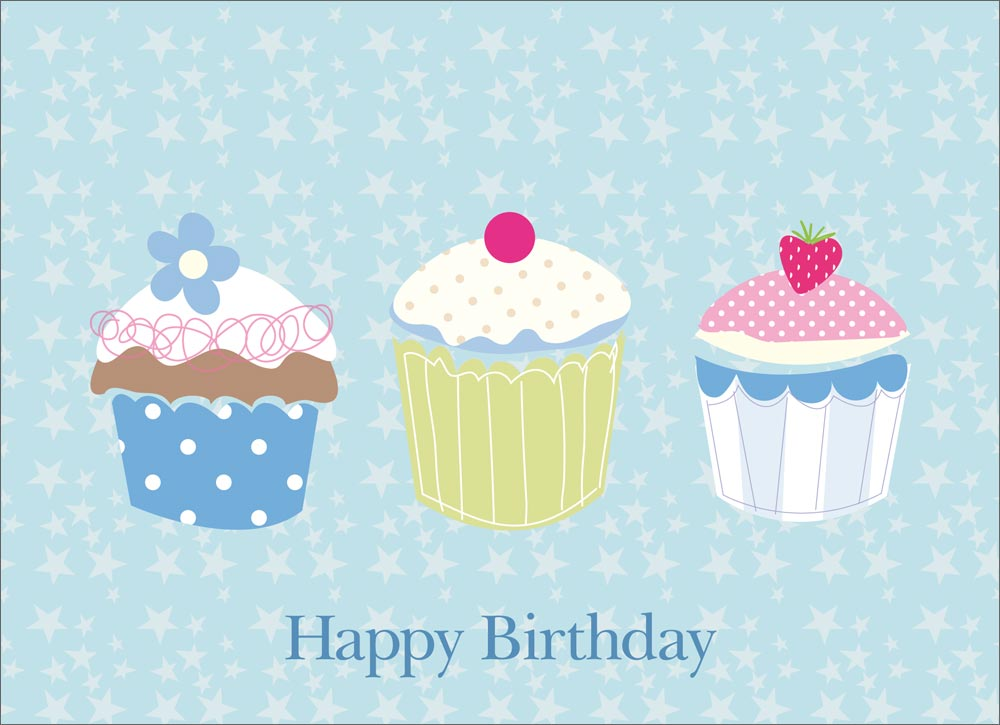 Birthday Card Backgrounds WallpaperSafari – Cupcake Birthday Cards