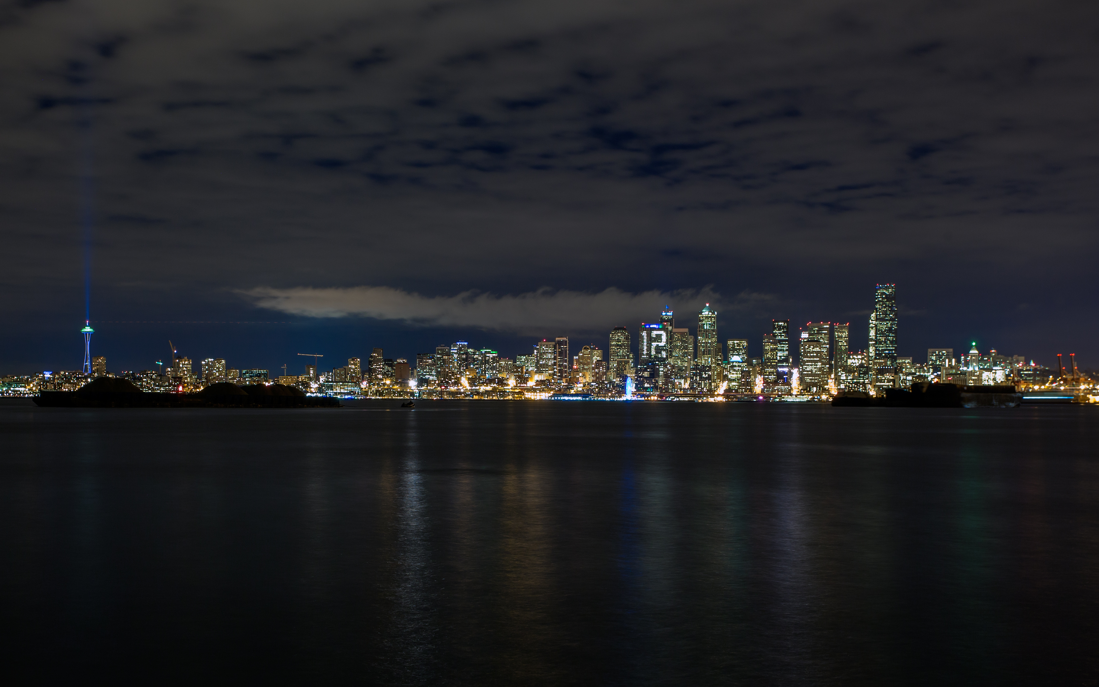 Seattle at night United States wallpapers and images   wallpapers 3840x2400