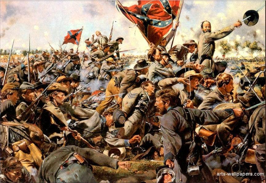American Civil War Paintings Art Prints Gallery Pictures Artworks 864x597