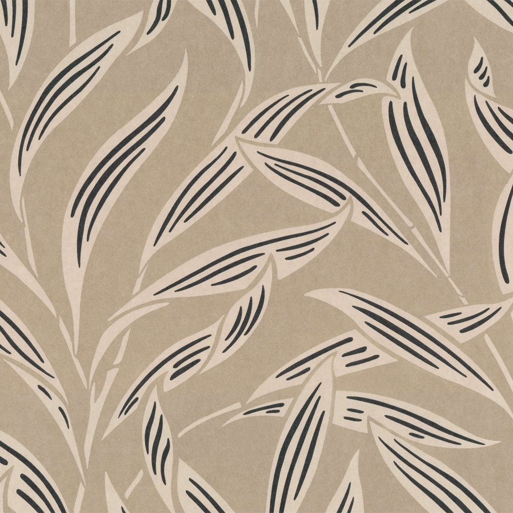Wallpaper Casadeco Casadeco Lelia Wallpaper Beige Black 1000x1000