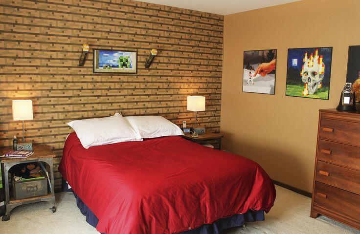 Minecraft Bedrooms Minecraft Boys Bedroom Guest Bedroom Minecraft 736x479