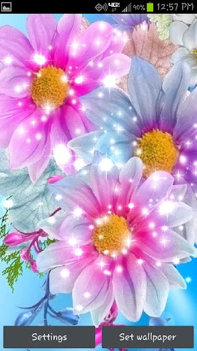Download Glitter Flowers Live Wallpaper for Android by fulbourn apps 288x512