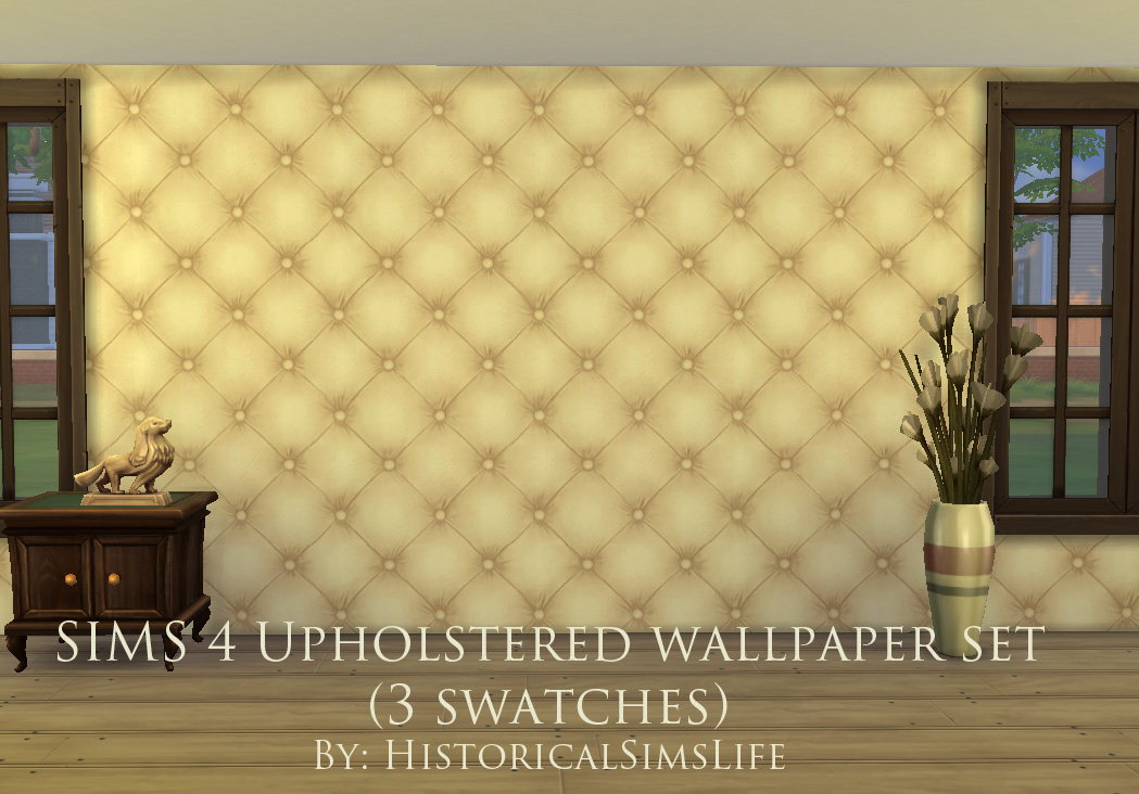 Mod The Sims   Upholstered Panels   Wallpaper Set 1049x732