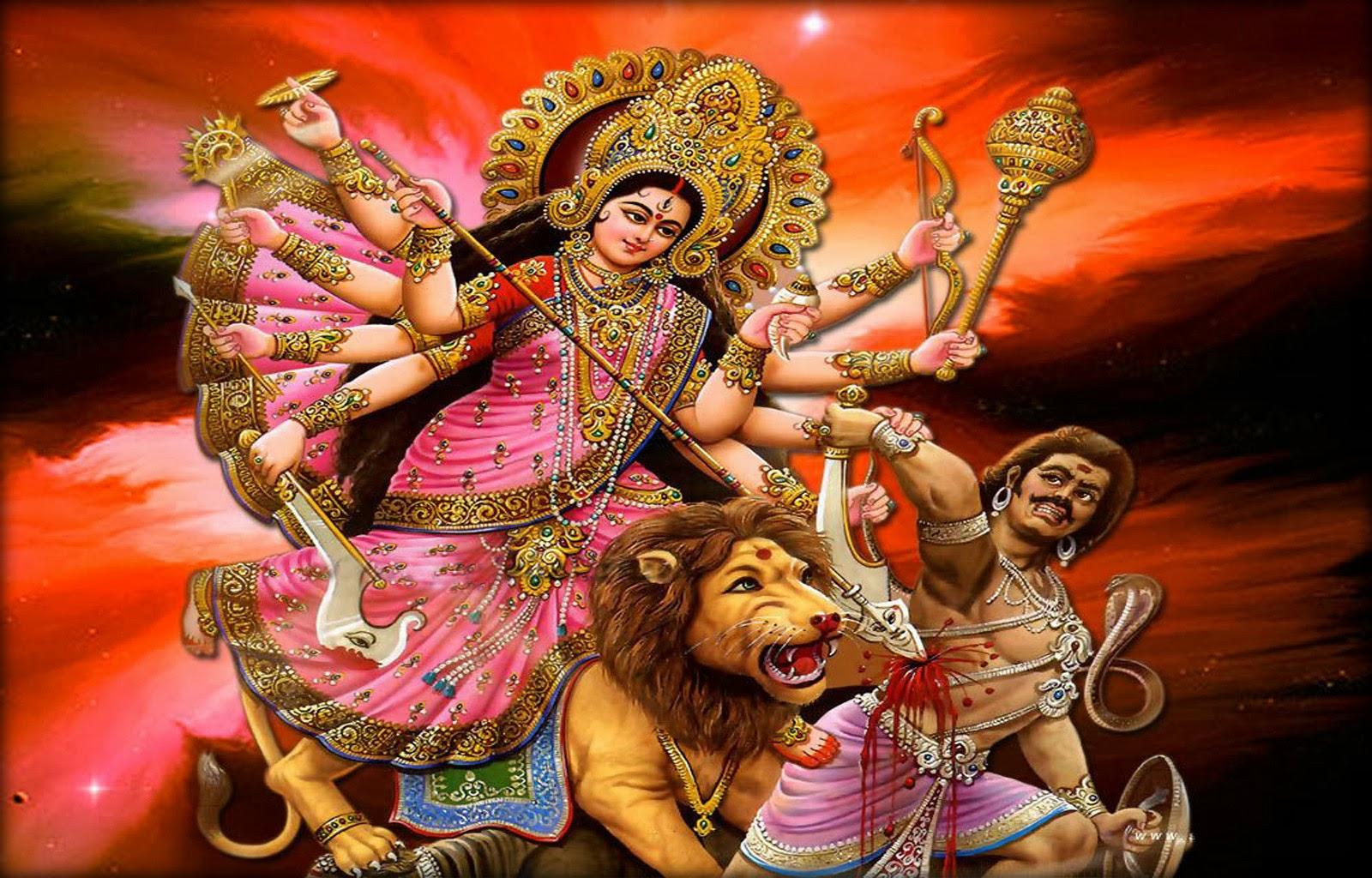 God Durga Hd Wallpaper Wallpapersafari
