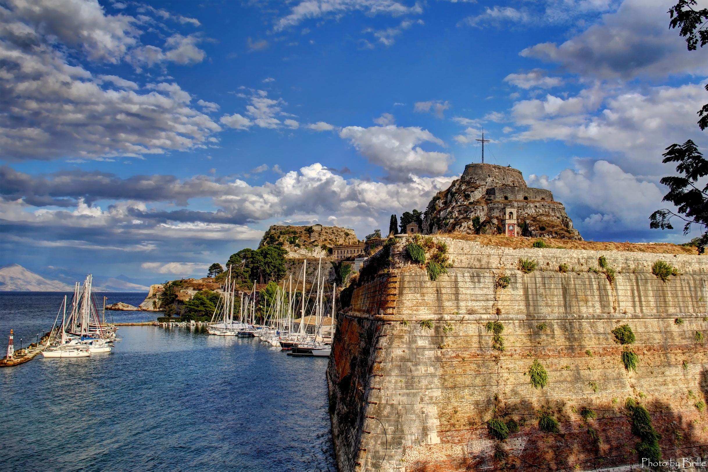 Wallpapers Greece Corfu Sky Coast Cities Clouds 2436x1623 2436x1623