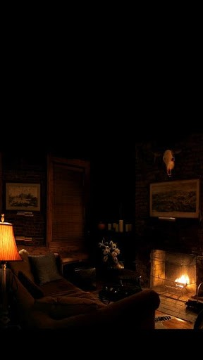 Enjoy the warm glow and ambiance of a wood burning fireplace right on 288x512