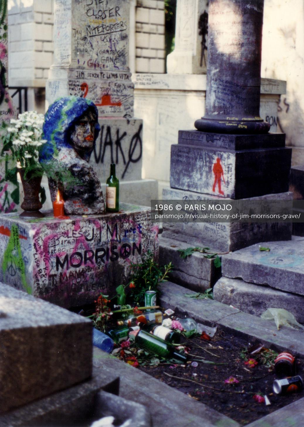 Visual history of Jim Morrisons grave Paris Mojo 1037x1456