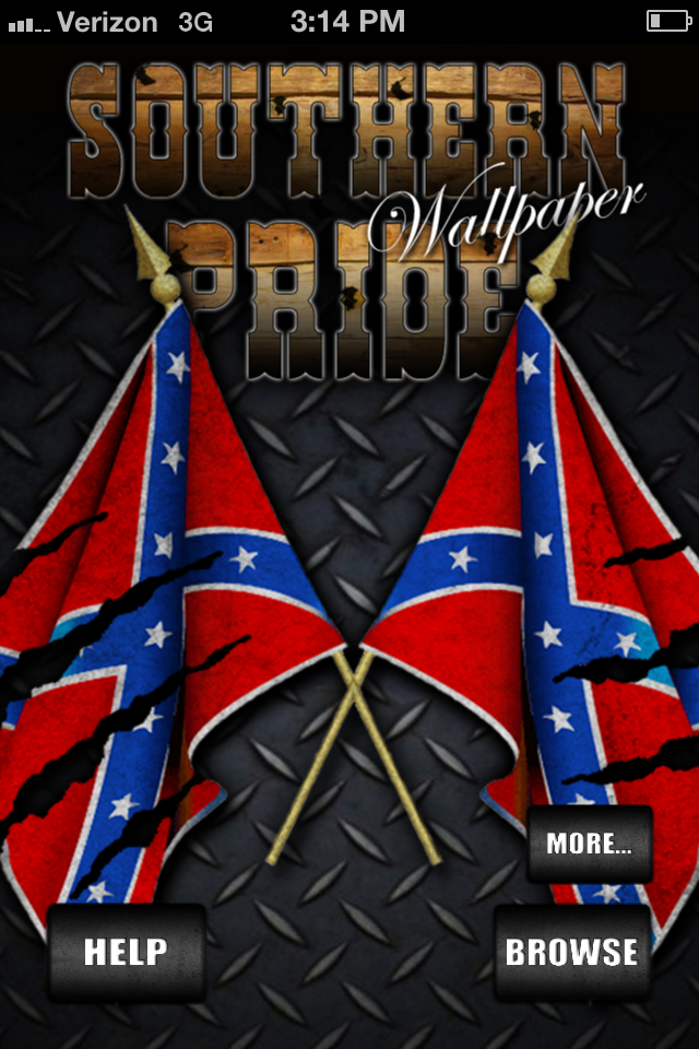 Southern Pride Rebel Flag Wallpaper 640x960
