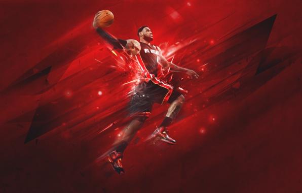 Wallpaper lebron james miami heat miami heat sports basketball 596x380