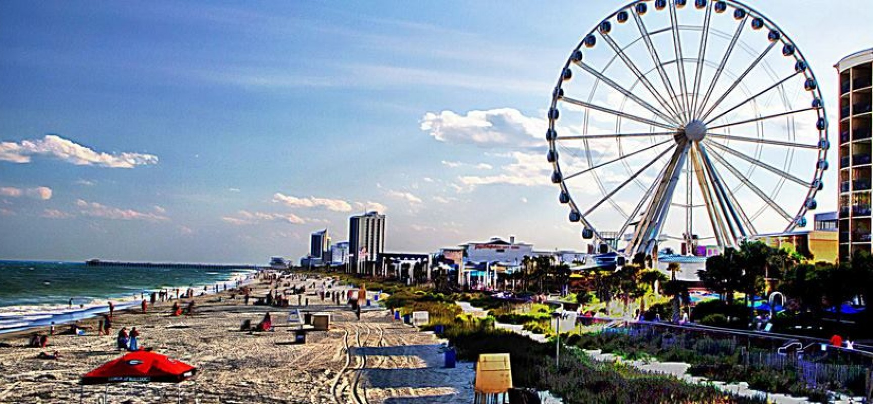 Myrtle Beach Roller Coaster Beautiful White Sandy Beaches In Usa Beach 1728x800