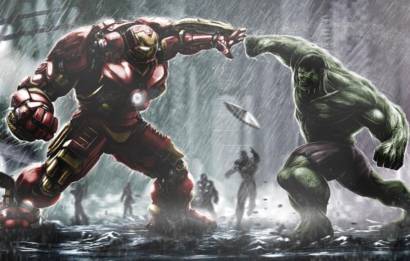 iron man tony stark hulk bruce banner wallpapers films   download 596x380