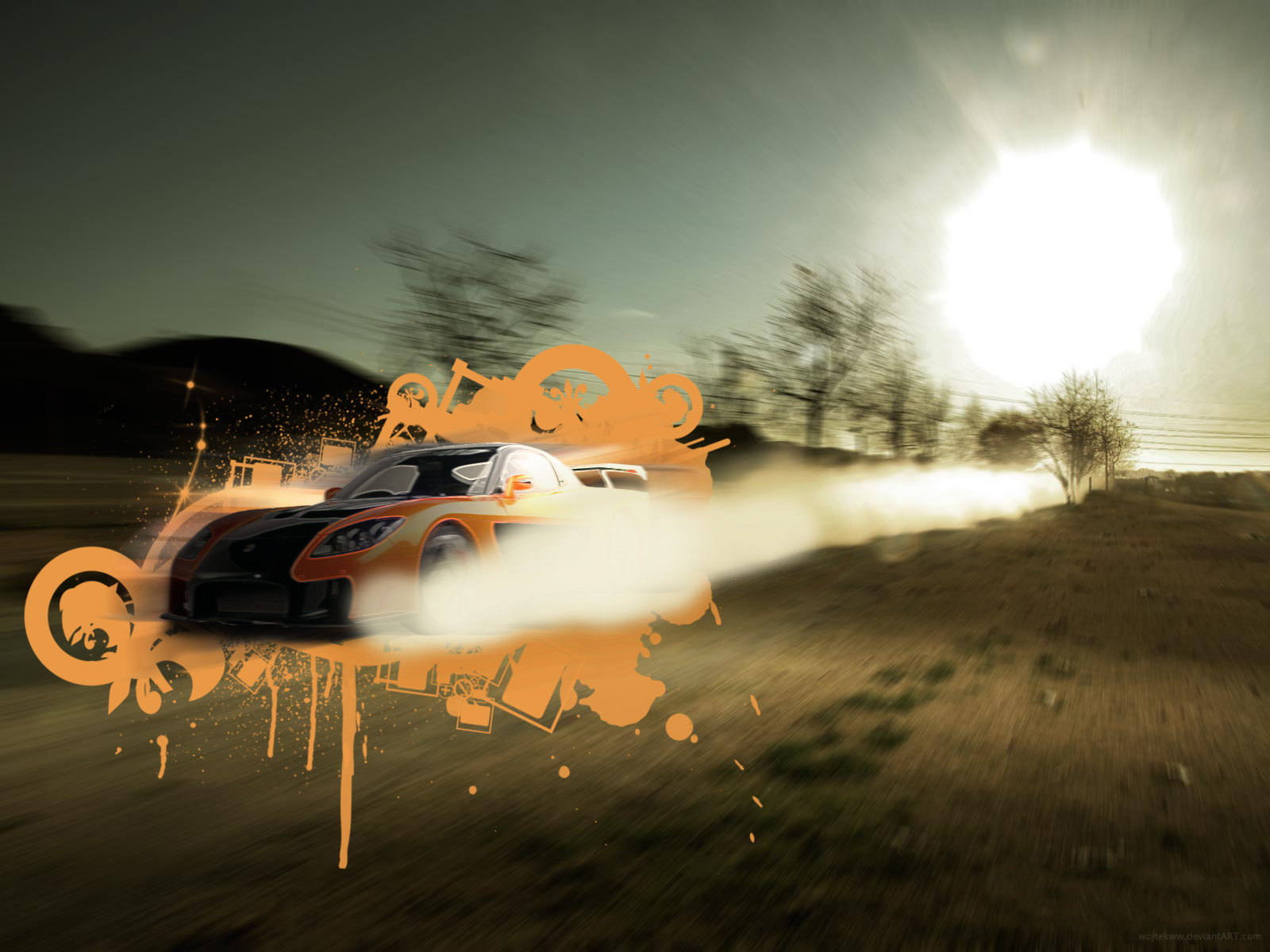 Mazda RX 7 Fast n Furious Wall by wojtekww 1600x1200