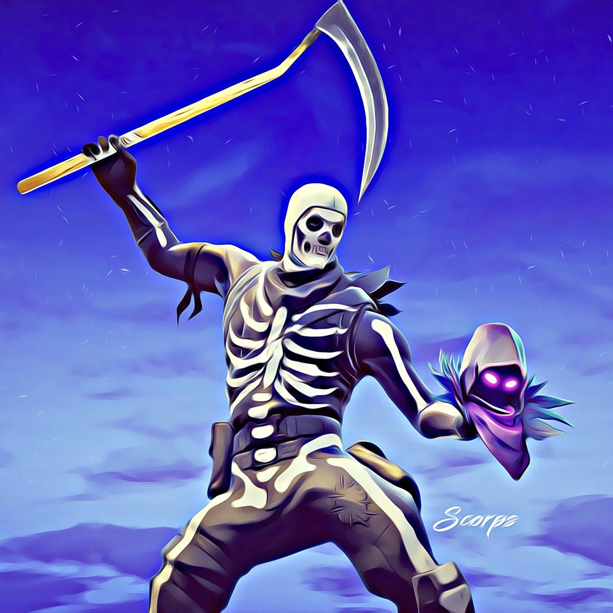 Scorps on Twitter The Skull Trooper vs The Raven FortniteGame 1200x1200
