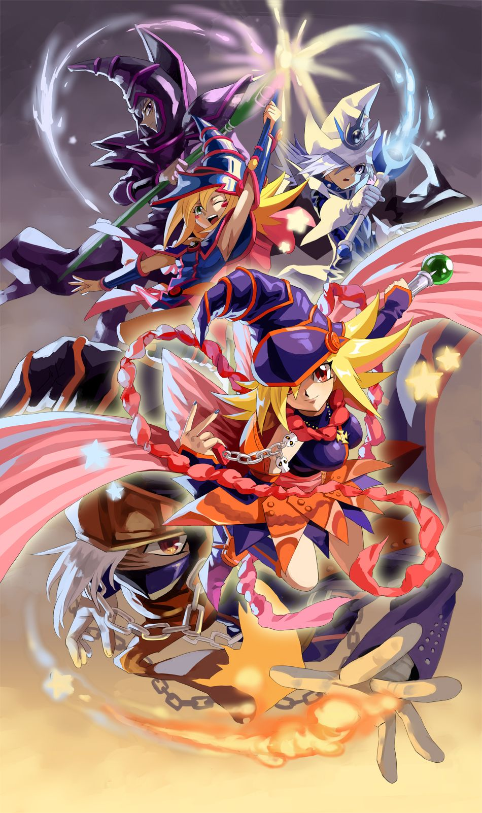 A magician compilation from the Yu Gi Oh  series Fullhd 950x1602