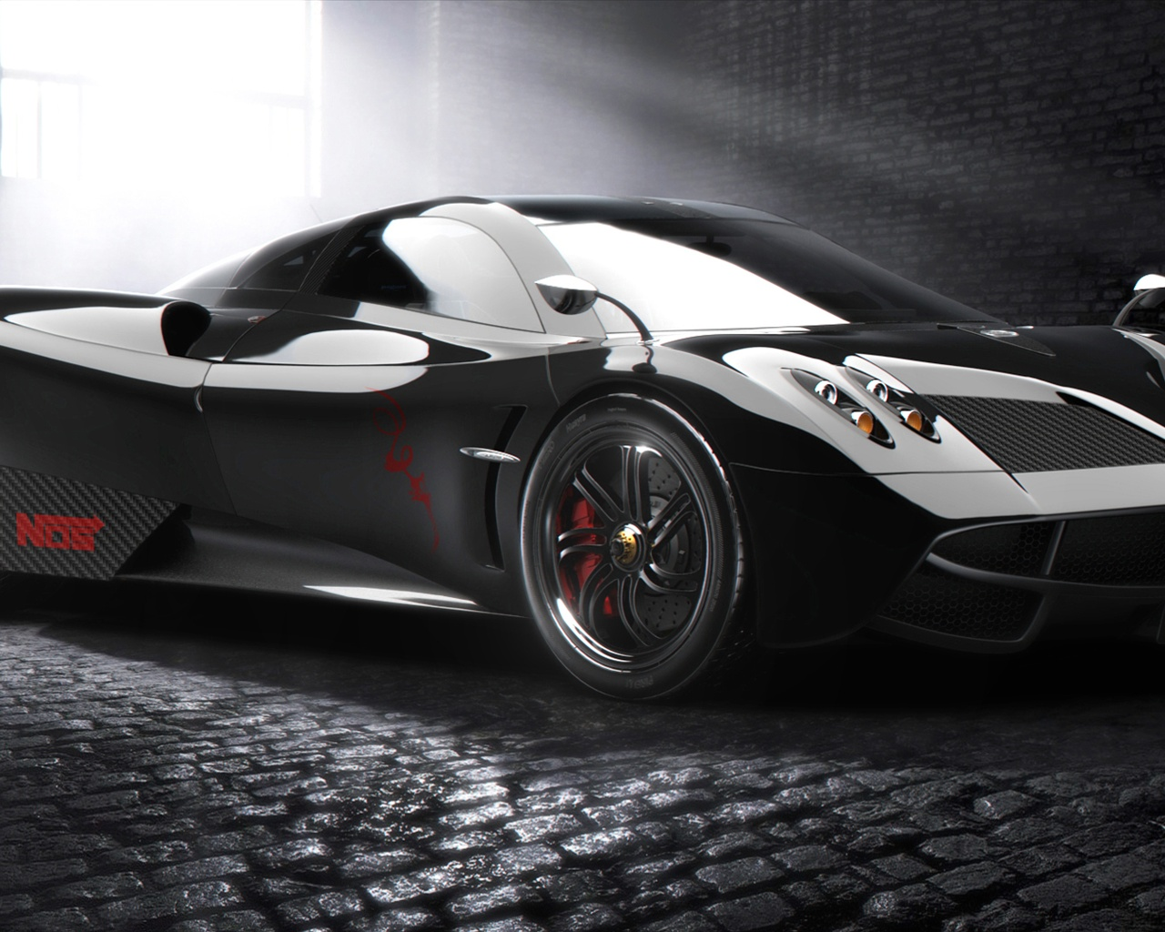 Huayra supercar black Wallpaper 1280x1024 resolution wallpaper 1280x1024