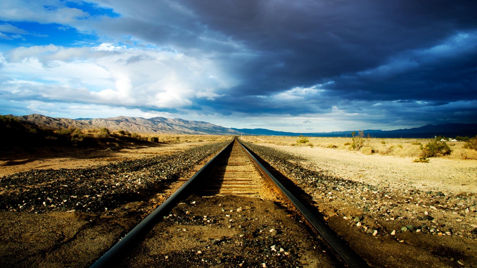 Hd Train Tracks Wallpaper Wallpapersafari