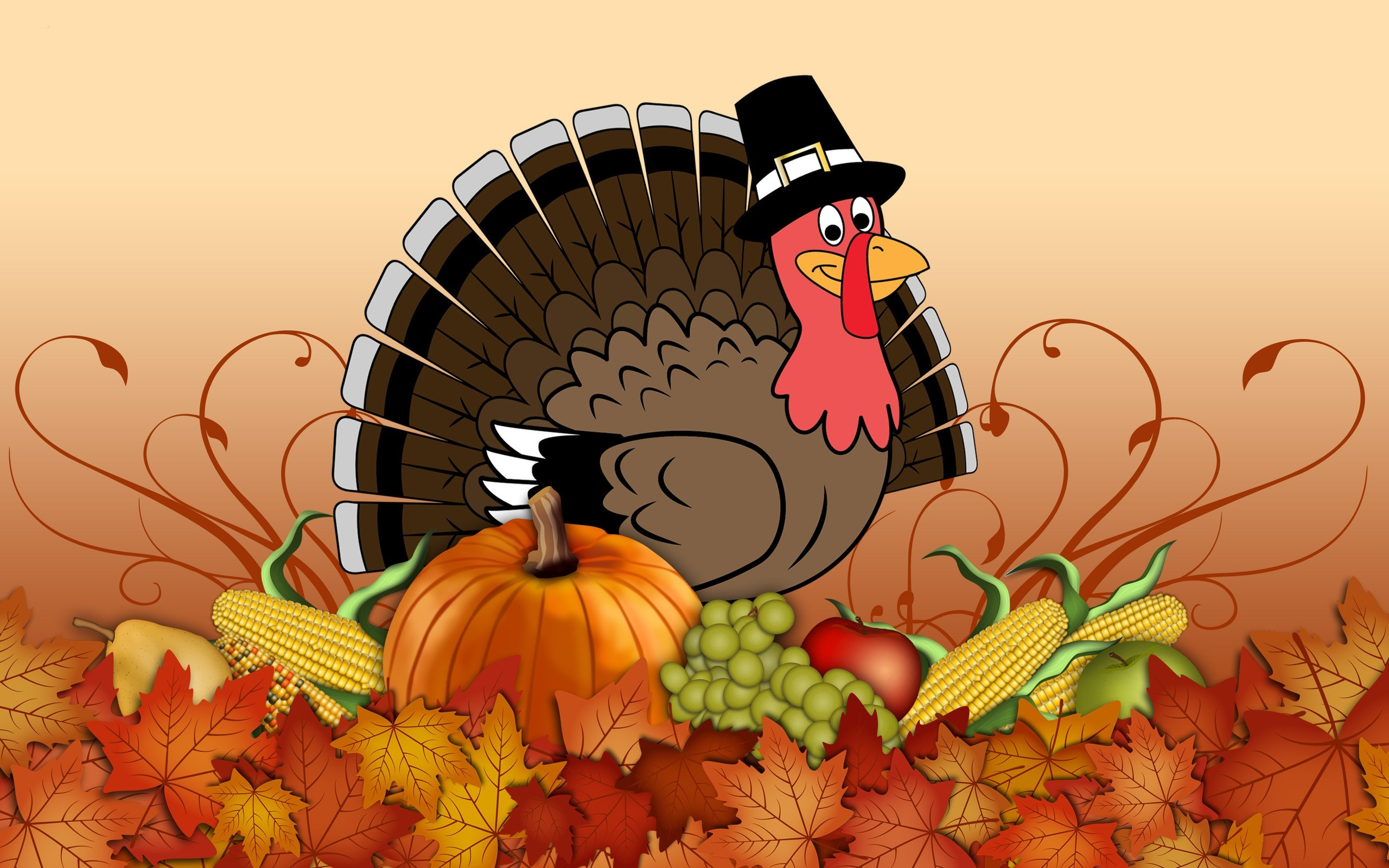 HD Funny Thanksgiving Backgrounds 2560x1600