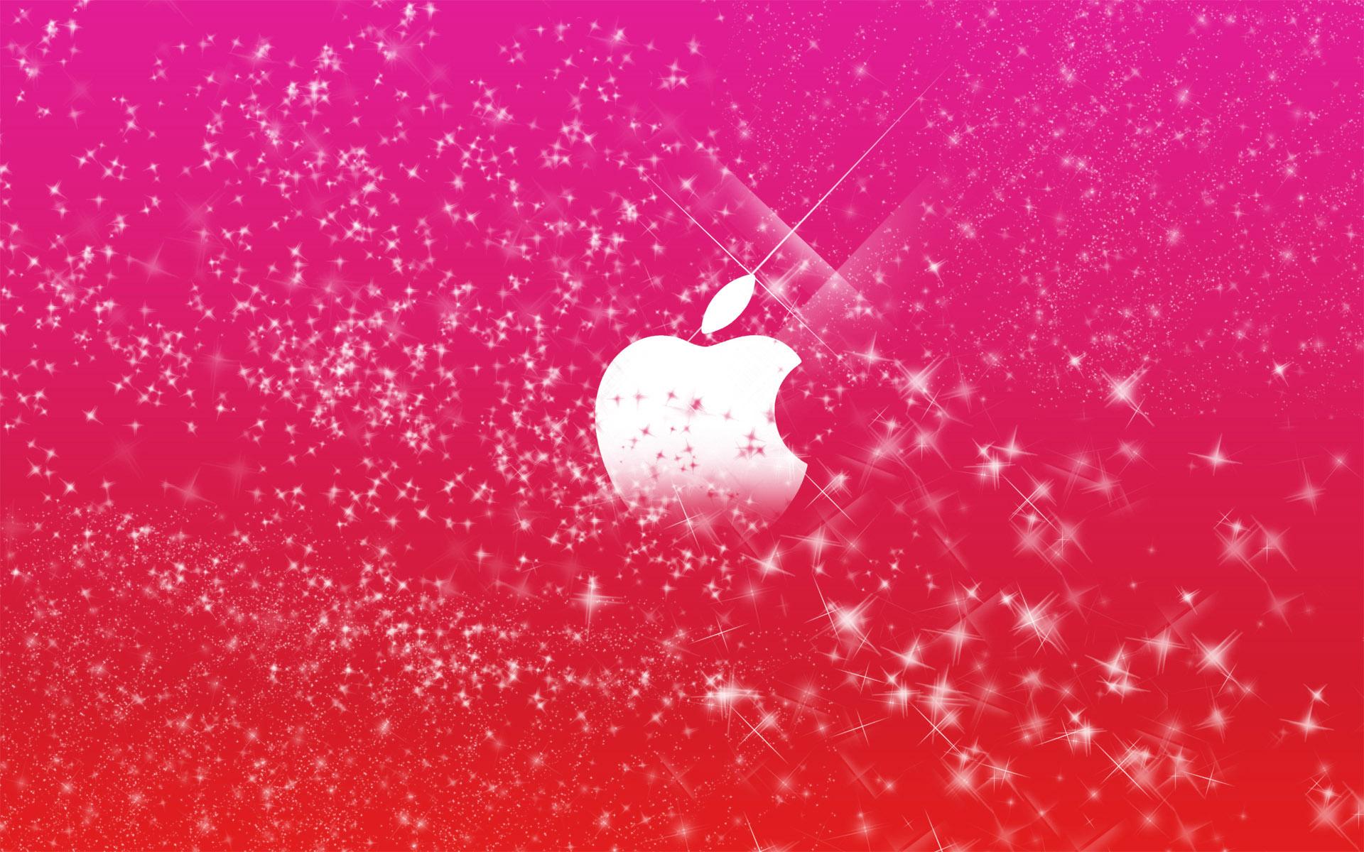 Apple Logo in Pink Glitters Wallpapers HD Wallpapers 1920x1200
