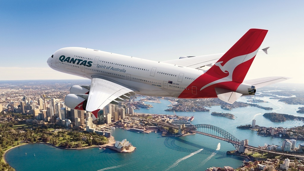 Airbus A380 Widescreen Wallpaper The Airbus A380 Qantas Airlines 1024x576