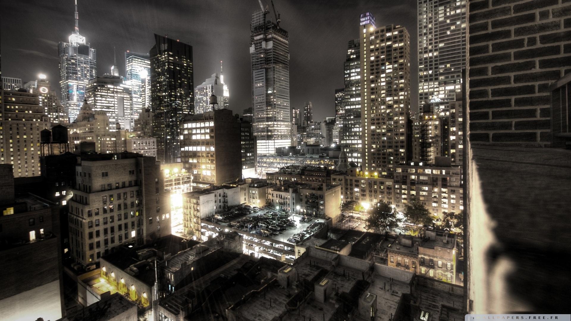 new york city at night lights wallpaper 1920x1080   new york city at 1920x1080