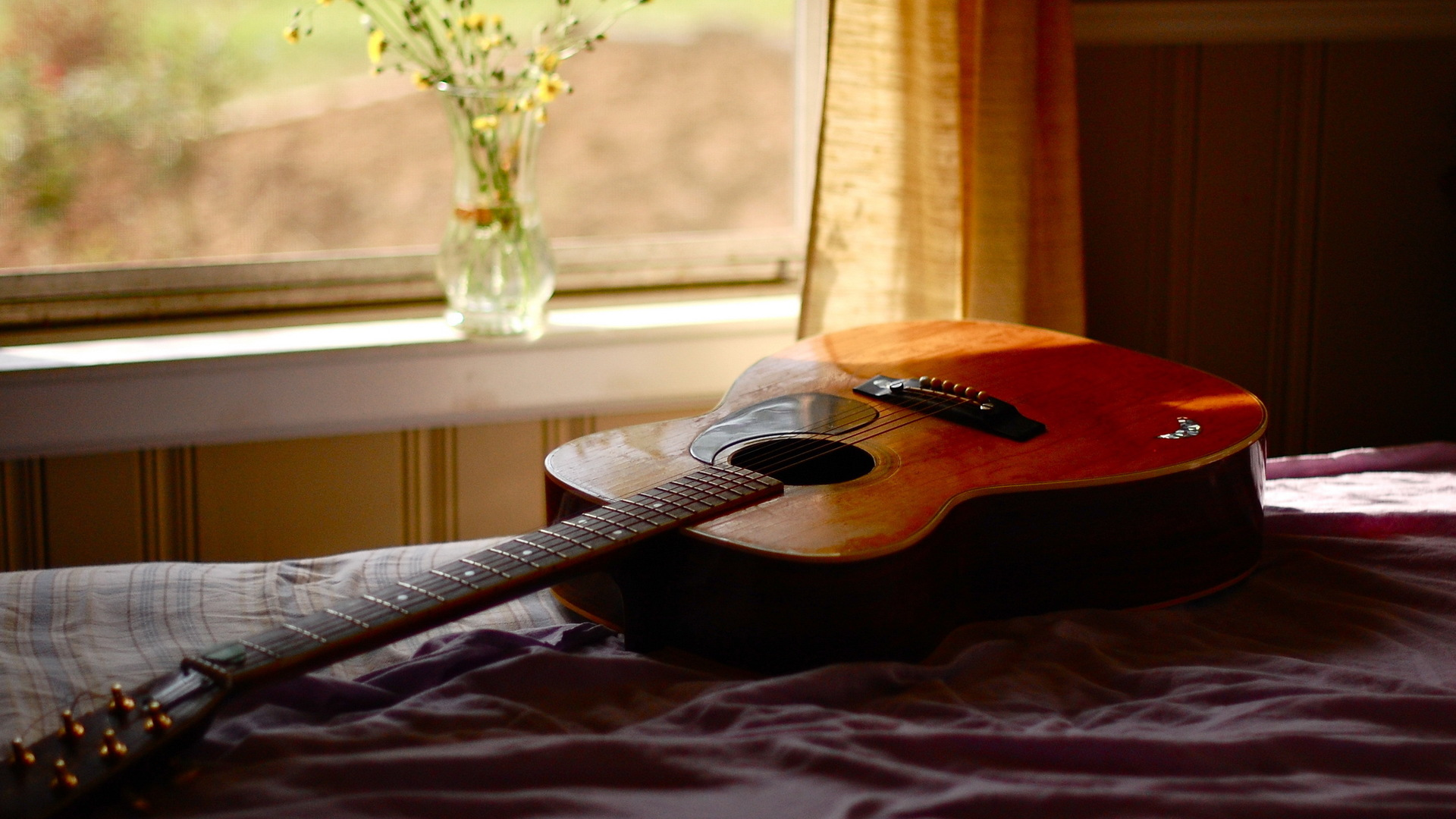 Acoustic Guitar   Wallpaper High Definition High Quality Widescreen 1920x1080