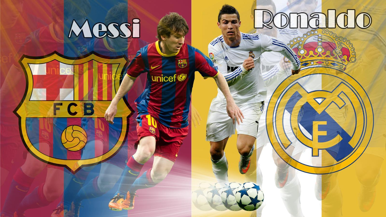 Messi Barcelona Vs Ronaldo Madrid Wallpaper   Football HD Wallpapers 1600x900