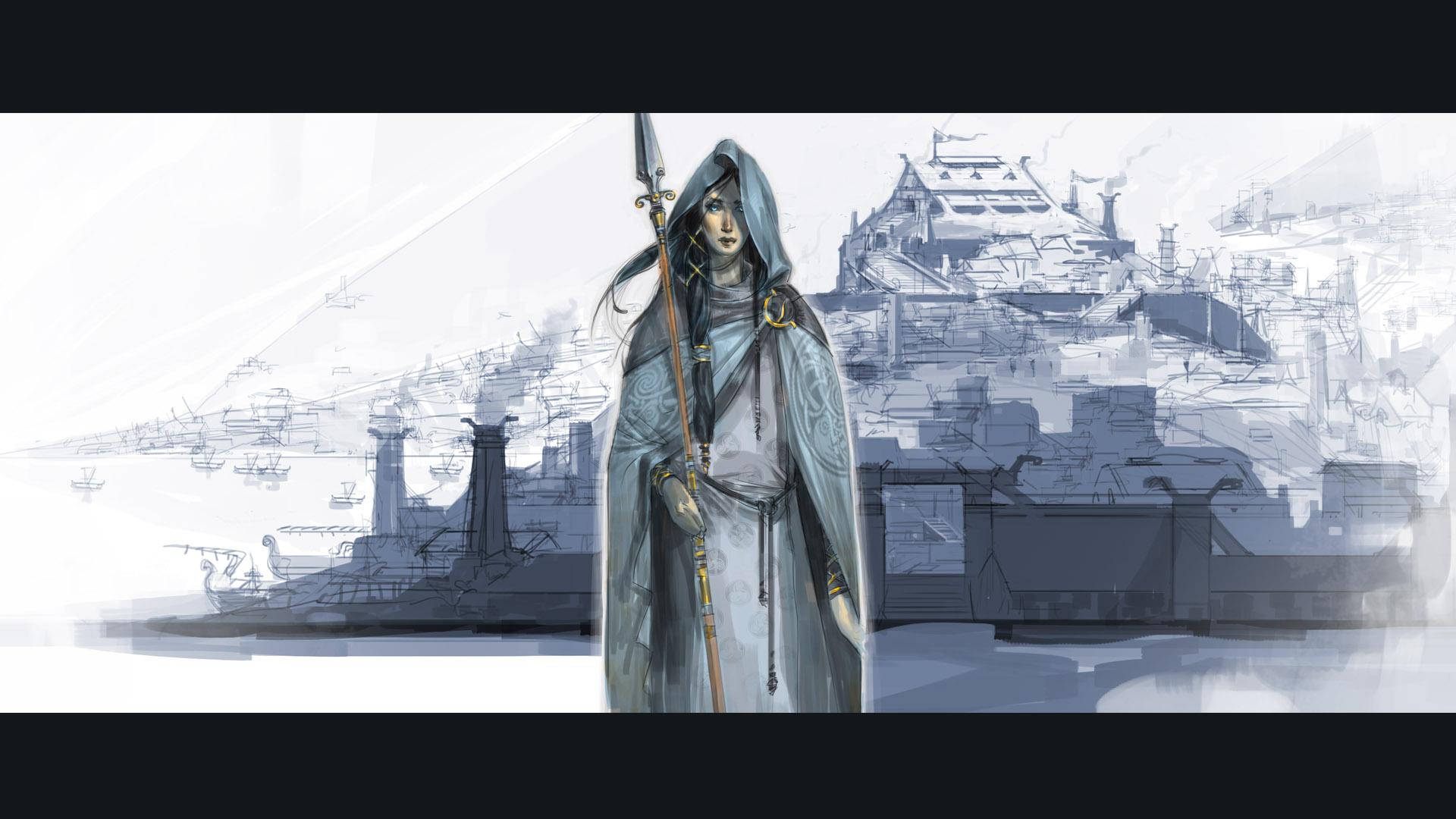 concept art from the video game The Banner Saga by Arnie Jorgensen 1920x1080