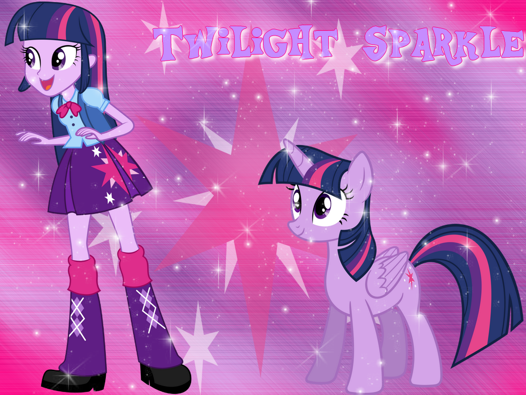 Twilight Sparkle and Princess pony Wallpaper by NatouMJSonic on 1024x768