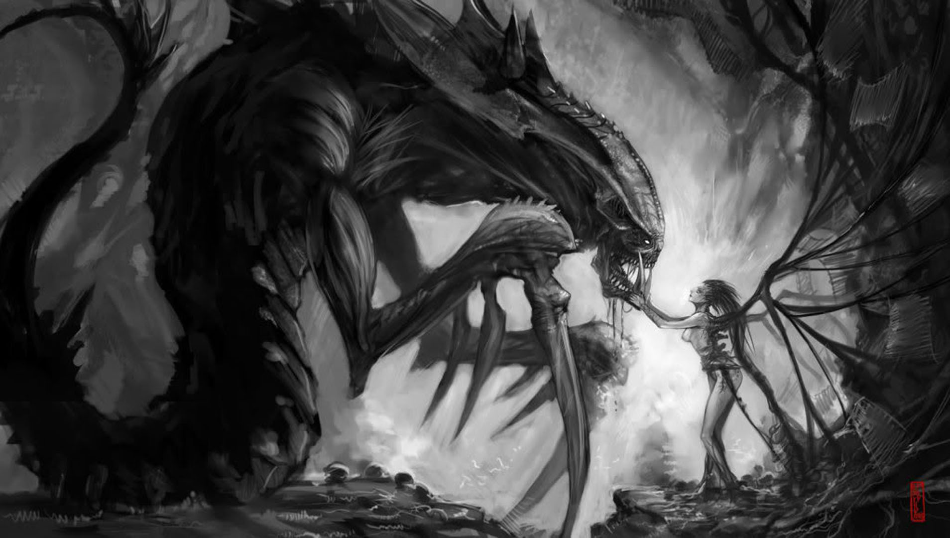 Queen Of Blades And Hydralisk   Action Rpg Games Wallpaper Image 1908x1080